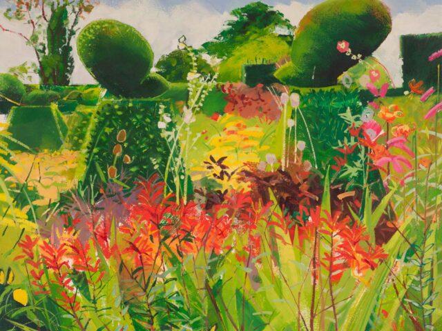 Louis Turpin, Peacock Garden 2020, 12x14ins